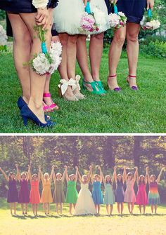 Colorful Hues for Your Bridal Party