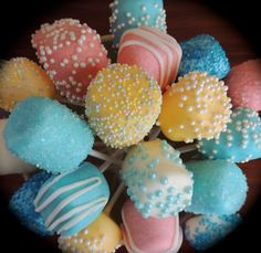 Baby Shower Marshmallow Pops by CeCesPopShoppe on Etsy, $15.00