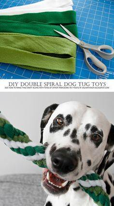 DIY Dog Toys | DIY Twisted Double Spiral Woven Fleece Dog Tug Toy