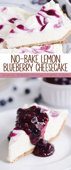 This creamy, dreamy, easy no-bake lemon cheesecake with a buttery graham cracker crust and heavenly blueberry topping is completely out of this world. I love cheesecake…and I'm declaring this one of the best cheesecakes ever.