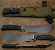 Golok Hitam Machete by Fox Knives. Fighting Blade FX-9CM02B - welder and a grinder... for sure