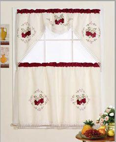 Jubilee Red Apple Kitchen Curtain
