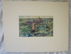 Vintage, Manet #183, Seascapes, Original PENN Prints,  Lithograph,  Nautical Art,  Housewarming Gift,  Home Decor Art by FunFloridaVintage on Etsy