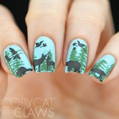 40 Great Nail Art Ideas - Animals                                                                                                                                                                                 More