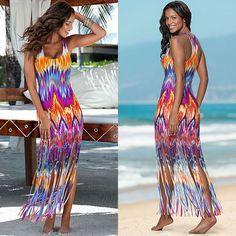 Womans Super Comfy Long Tassel Beach Dress