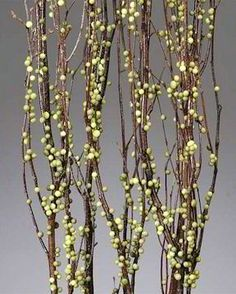 Anyone else so excited for the leaves and blossoms to bud out on the trees?  Only a few short weeks until that will be a reality across the States... but no need to wait to bring Spring inside!  These Berry Birch Branches come in several colors and give the appearance of the first leaves and flowers of spring.   #BerryBirchBranches #DriedBranches #Eastercrafts #Easterdecorations #homedecor #springdecorations