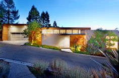 Custom Built Modern Home, designed by Bay Area architect Robert Swatt. Located in Oakland, California.
