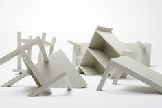 sinking about furniture by nendo