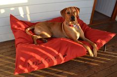 Dog Bed Cover - Machine Washable - Use sleeping pillows as stuffing - Choose your 9.3 oz canvas color