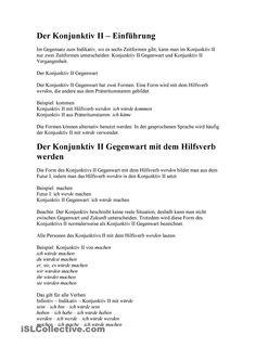 Übersicht Modalverben: Präsens, Präteritum, Konjunktiv II ...