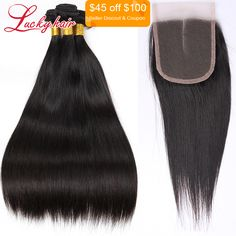 Cheap hair styles for flower girls, Buy Quality hair vogue directly from China hair care fine hair Suppliers:  Ula Hair Malaysian Straight Hair 3 Bundles With Closure 7A Malaysian Virgin Hair Malaysian Hair Bundles With Lace Closu