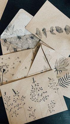 Diy Envelope, Envelope Design, Letter Writing, Letter Art, Pen And Paper, Diy Paper, Pen Pal Letters, Karten Diy, Cover Photo Quotes