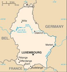 Country Maps: Luxembourg Map