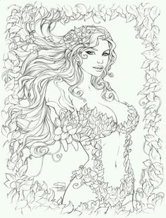 Coloriage Mandala Personnage Fille.226 Meilleures Images Du Tableau Coloriages Personnages Coloring
