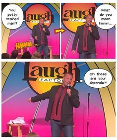 Me performing at the Laugh Factory.
