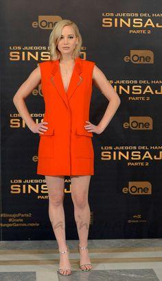 Jennifer Lawrence Sinsajo 2, photocall Madrid