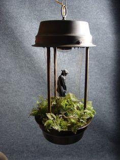 Mid Century Modern Hanging Venus Oil Rain Swag Lamp by junk4cash