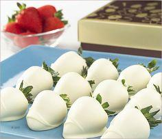 White Chocolate Dipped Strawberries