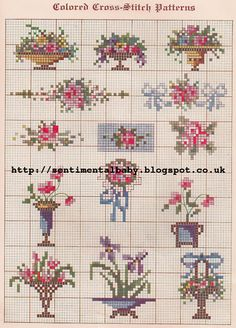 The Vintage Pattern Files: 1920's Embroidery - Cross Stitch Samplers