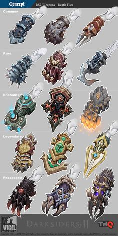 Darksiders 2 weapon concepts