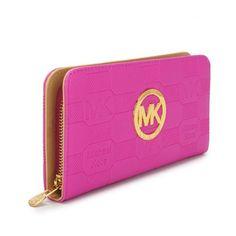 Michael Kors Logo Signature Large Pink Wallets