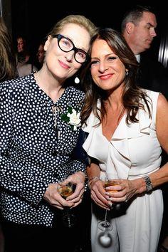 Meryl Streep and Women In Film President, Cathy Schulman at the #WIFOscars