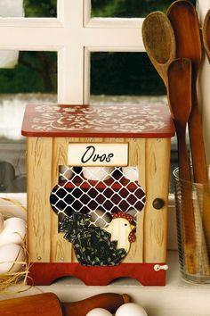 Porta-ovos flocado / DIY, craft