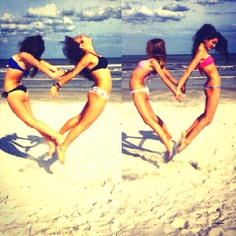 Going to the Beach!                                     I would love to do this on the beach with my friend! It's like picture perfect and a great memory trying to get it perfect!  Need to try in the Summer 2013!!!!!!!!!