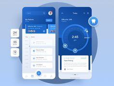 Pharmagy: Medical app design by Adam Sokołowski ~ EpicPxls Graphisches Design, App Ui Design, Design Color, Interface Design, Android Design, Design Layouts, Flat Design, User Interface, Mobile Ui Design