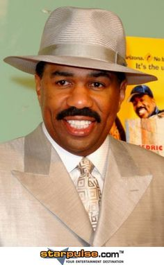 Working for a Better Tomorrow Act Like A Lady, Man, Cool Hats, How To Look Handsome, Steve Harvey, Comedians, Steve, Men Dress, Panama Hat