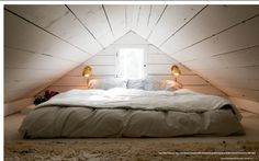 42 Fascinating Attic Decoration Ideas You Should Keep - Decorating your attic can be a lot of fun and it will provide you with a beautiful extra room that can be used as a bedroom, office or just a place to. Attic Bedroom Small, Attic Bedroom Designs, Attic Bedrooms, Attic Loft, Loft Room, Attic Spaces, Bedroom Loft, Small Loft Spaces, Bedroom Office