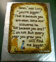 Aslan lovers sweet 16 birthday cake!