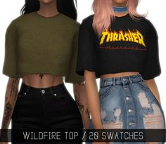 LumySims: Wildfire top • Sims 4 Downloads