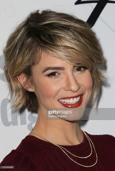 Actress Linsey Godfrey arrives at the 40th Anniversary of the Soap Opera Digest at The Argyle on February 24, 2016 in Hollywood, California.