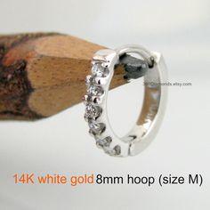 Men S Hoop Earrings Diamond Aeon Earring Solid Gold Huggie Cartilage Helix E009dw