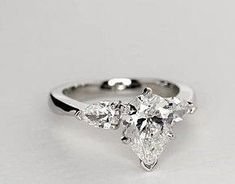 Classic Pear Shaped Diamond Engagement Ring in Platinum for Larger . Classic Pear Shaped Diamond Engagement Ring in Platinum for Larger . Pear Diamond Engagement Ring, Pear Diamond Rings, Buy Diamond Ring, Pear Shaped Engagement Rings, Platinum Engagement Rings, Pear Shaped Diamond, Diamond Wedding Rings, Bridesmaid Jewelry Sets, Larger