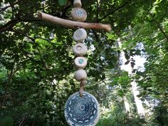 Ceramic Wind Chime Garden Decor Driftwood petrol 1    This beautiful wind chime enrich any garden and is also a beautiful gift for anyone.  The ceramic