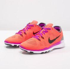 Nike Performance FREE 5.0 TR FIT 5 Obuwie treningowe hyper orange/black/cool grey/vivid purple