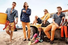 Tommy Hilfiger group print/ad campaign. Summer