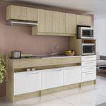 Cozinha Compacta 8 Portas e 4 Gavetas Open Sem Tampo Bali/Branco - Decibal | Lojas KD