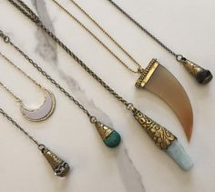 Lovelies from Stellar Girlz & Company!✨#necklaces #jewelrydesigner #jewelry #lariat #crescentmoon #necklace #turquoise #crystal #love @stellargirlzshop
