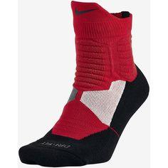NIKE HYPER ELITE HIGH QUARTER ($18) ❤ liked on Polyvore featuring intimates, hosiery, socks, nike socks and nike
