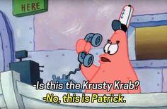When Patrick was the world's worst receptionist.