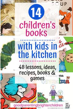 Want a multi-sensory experience while reading books to your kids? Children's books combined with food & kitchen fun is the best creative experience for kids. Here are 48 lessons, ideas, recipes, books & games! Read Aloud Books, Good Books, Infant Activities, Activities For Kids, Kids Nutrition, Nutrition Month, Cooking With Kids, Healthy Kids, Book Lists