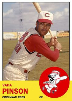 Vada Pinson 1963 Topps Card That Never Was.