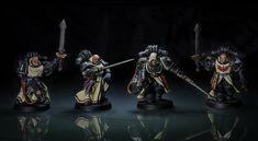 Pre-Heresy Dark Angels command squad   par mikko.pyhajarvi