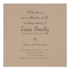 Golden Vintage Frame Memorial Service Card Cartoes De Convite