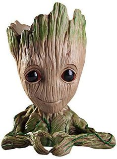 Baifeng Flowerpot Treeman Heart-Shaped Groot Succulent Planter Cute Green Plants Flower Pot with Hole Pen Holunder ledgrowlights. Cheap Plant Pots, Cheap Plants, Small Plants, Green Plants, Figurines D'action, Baby Groot, Pen Holders, Pencil Holder, Happy Baby