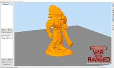 Digital model setup in Simplify printing slicing program, For War Of The Ravaged by Lloyd Chidgzey 3d Printing, War, Digital, Prints, Model, Impression 3d, Scale Model, Printed