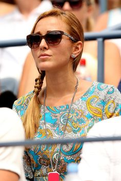 Jelena Ristic Photos Photos - Jelena Ristic, girlfriend of Novak Djokovic of Serbia watches his men's singles third round match against Julien Benneteau of France during Day Seven of the 2012 US Open at USTA Billie Jean King National Tennis Center on September 2, 2012 in the Flushing neighborhood of the Queens borough of New York City. - 2012 US Open - Day 7